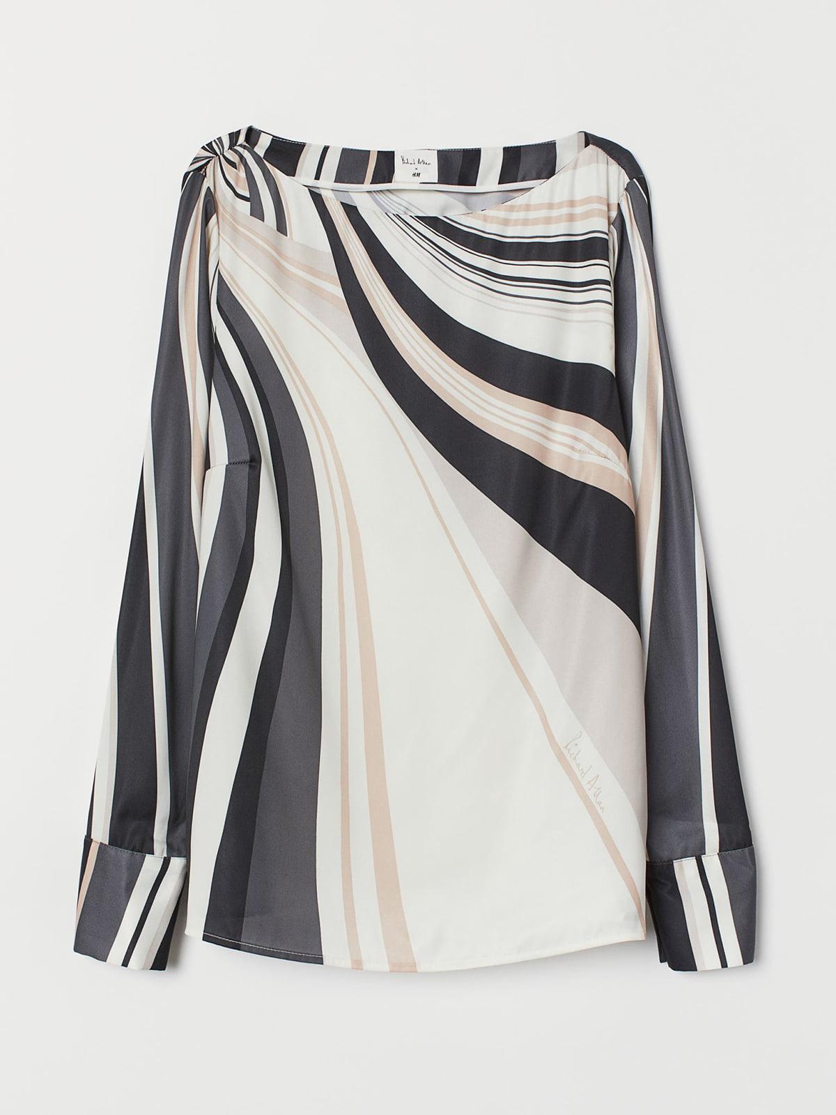 Блуза черно-белая | 5721708