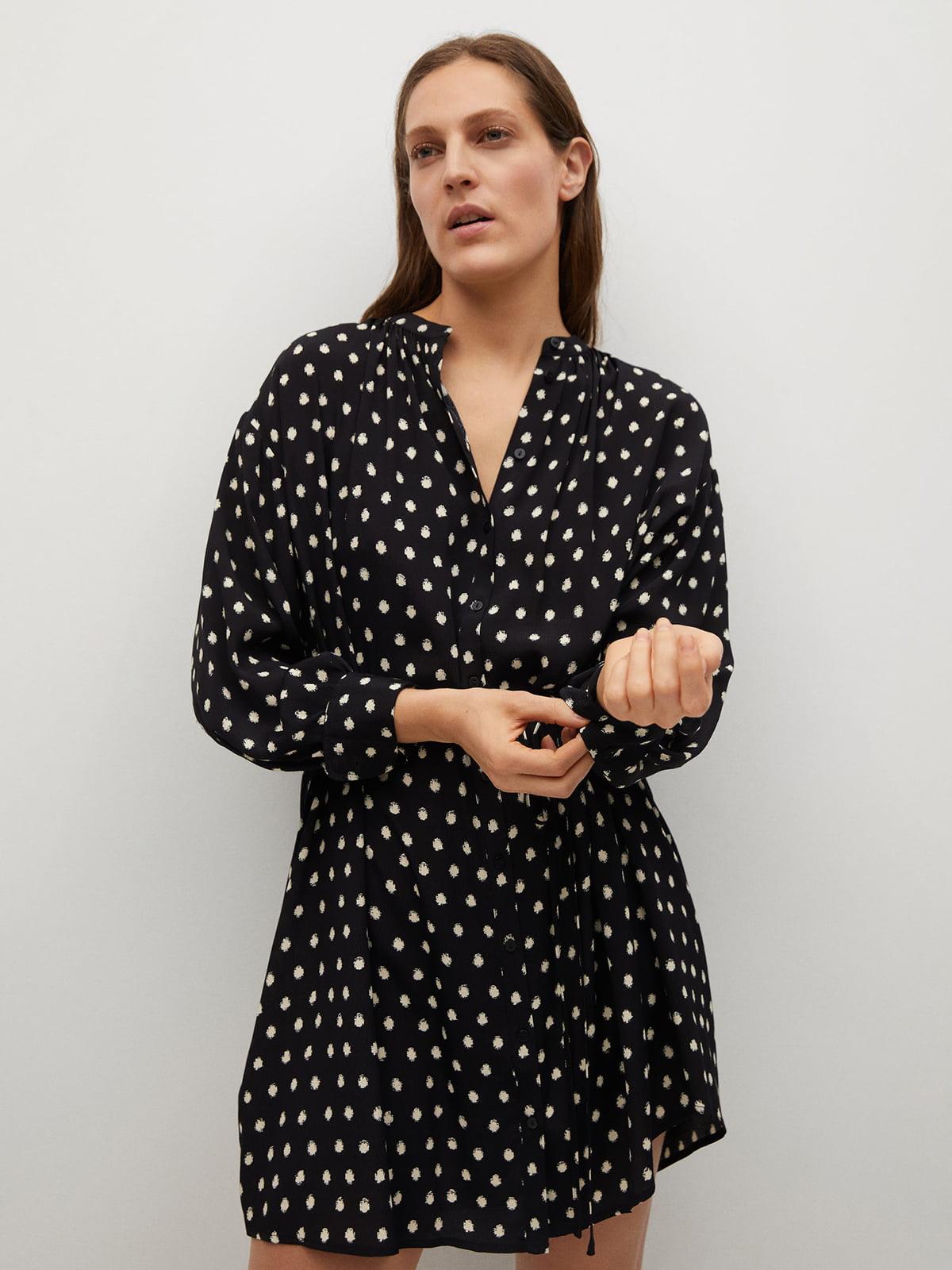 Платье черное в горошек | 5730474