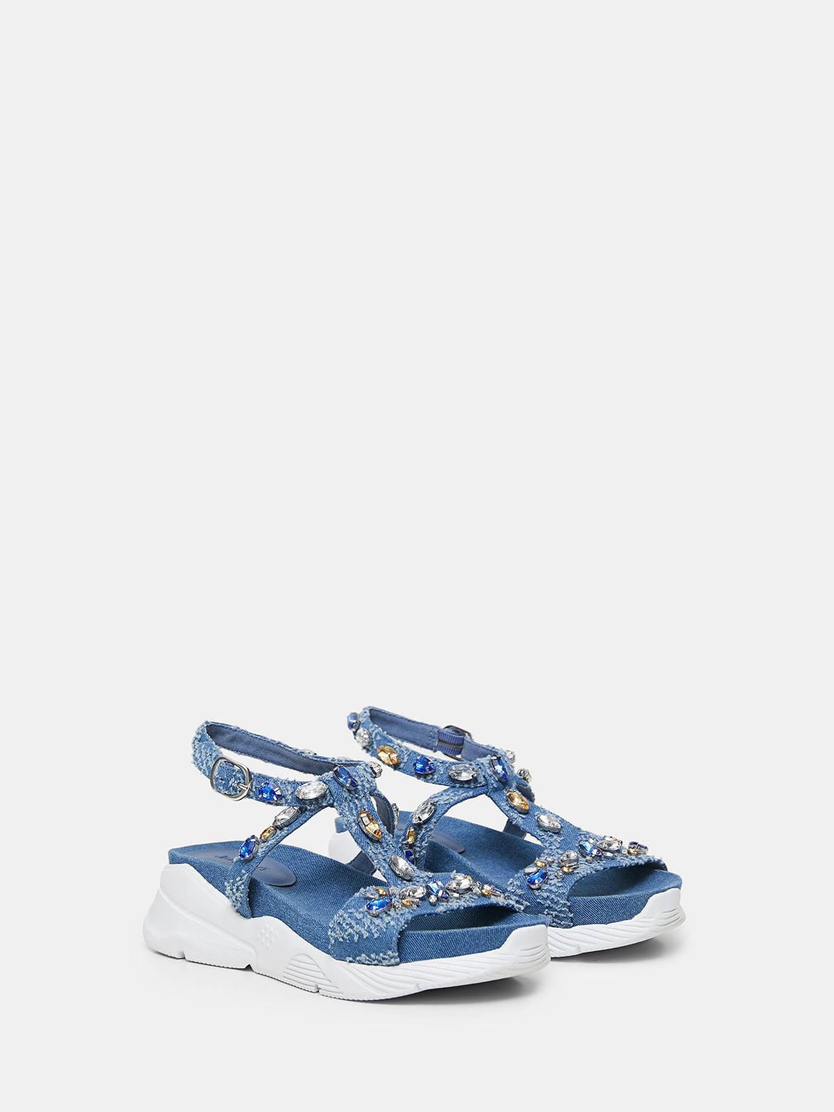 Босоножки голубые | 5710340