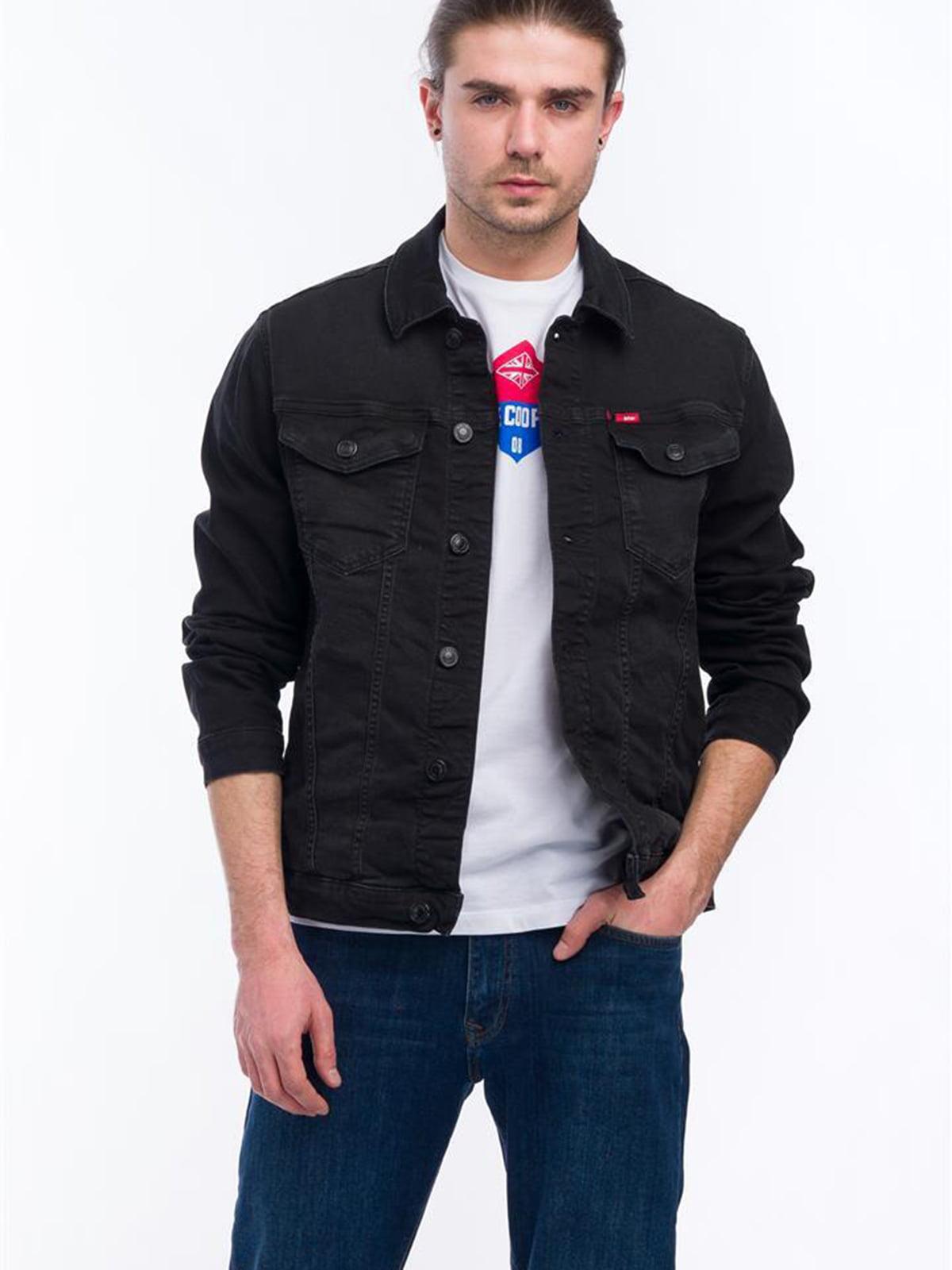 Куртка черная джинсовая   5730626