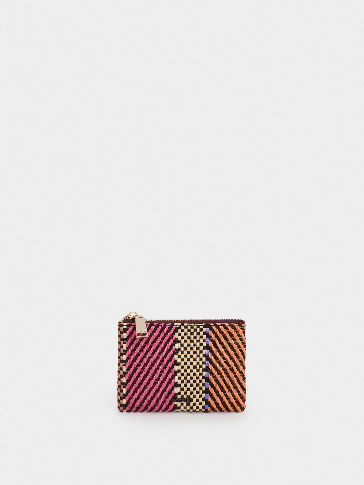 Косметичка комбинированного цвета с узором | 5732169