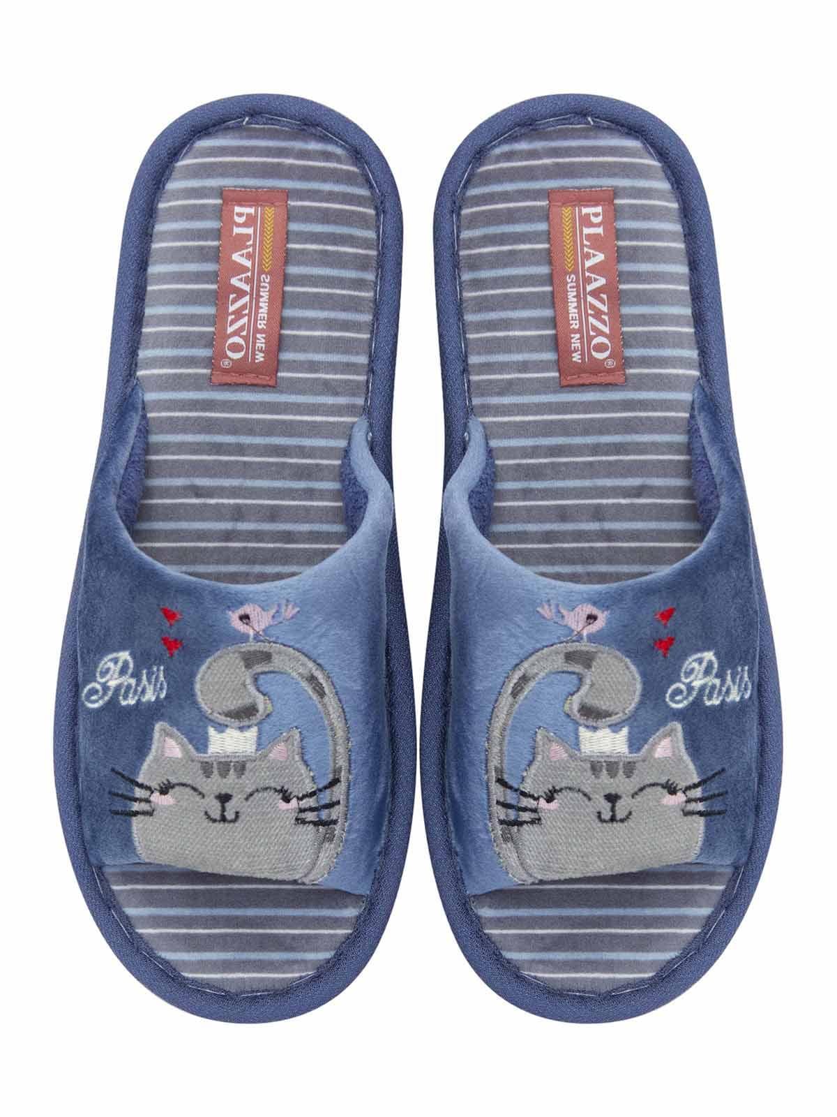 Тапочки синие с рисунком   5741760