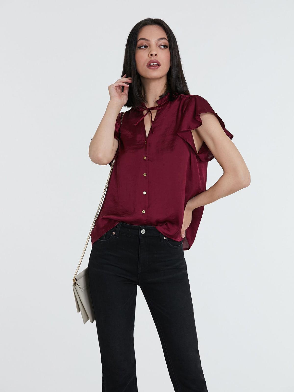 Блуза бордовая | 5741295