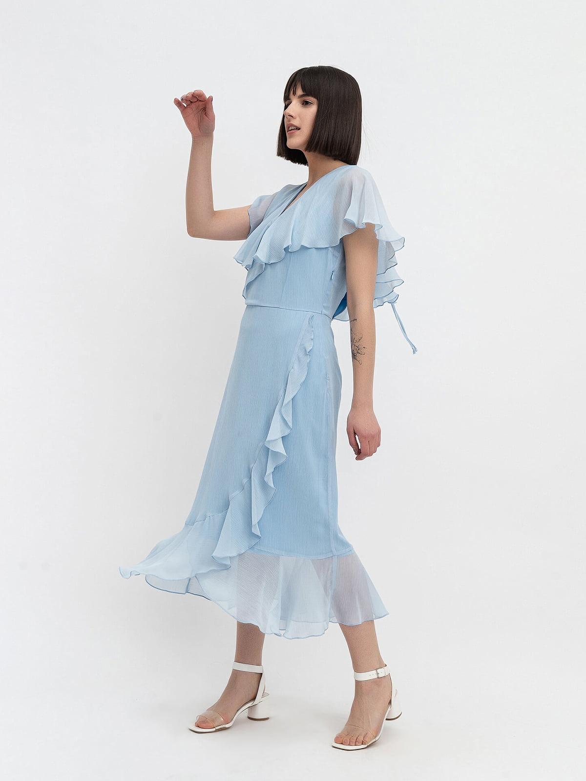 Платье голубое   4302412