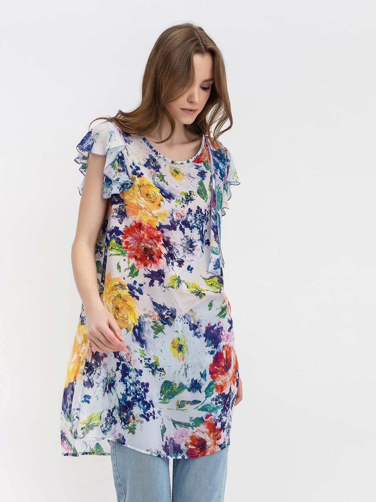 Блуза в цветочный принт   5114062