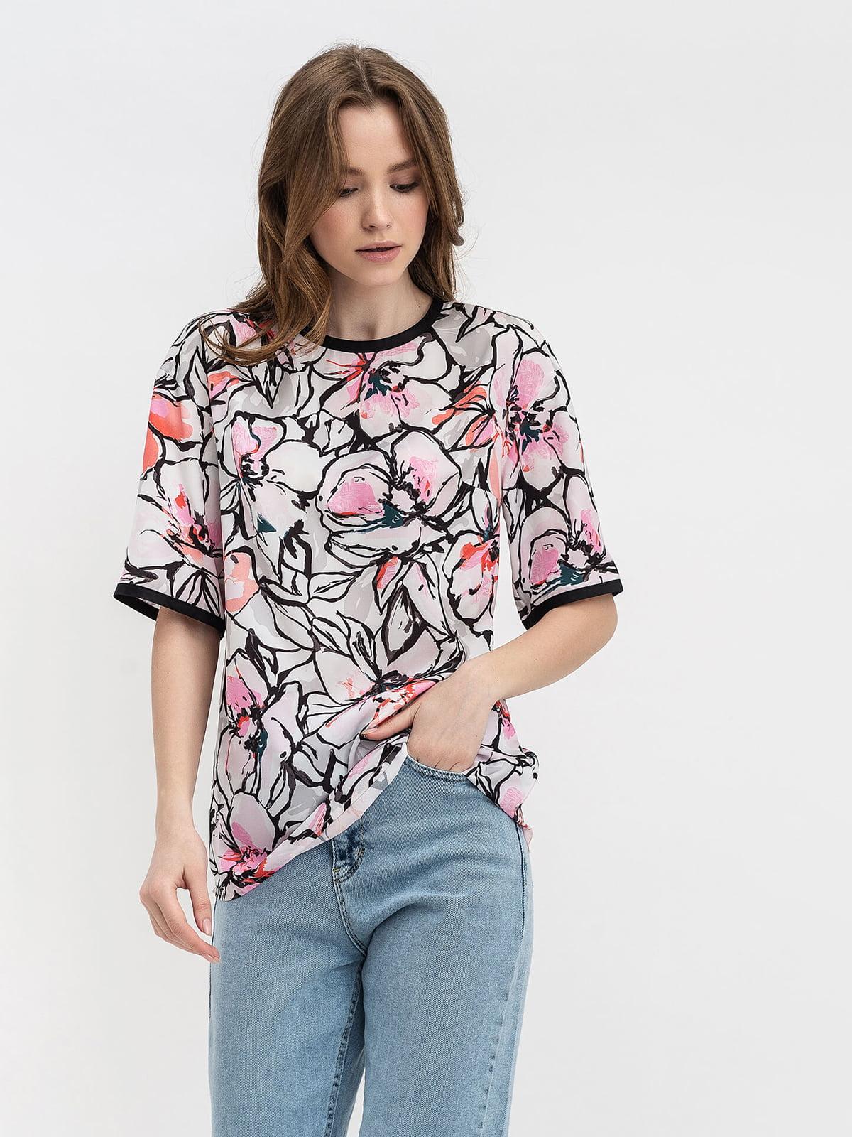 Блуза с цветочным принтом | 5115737