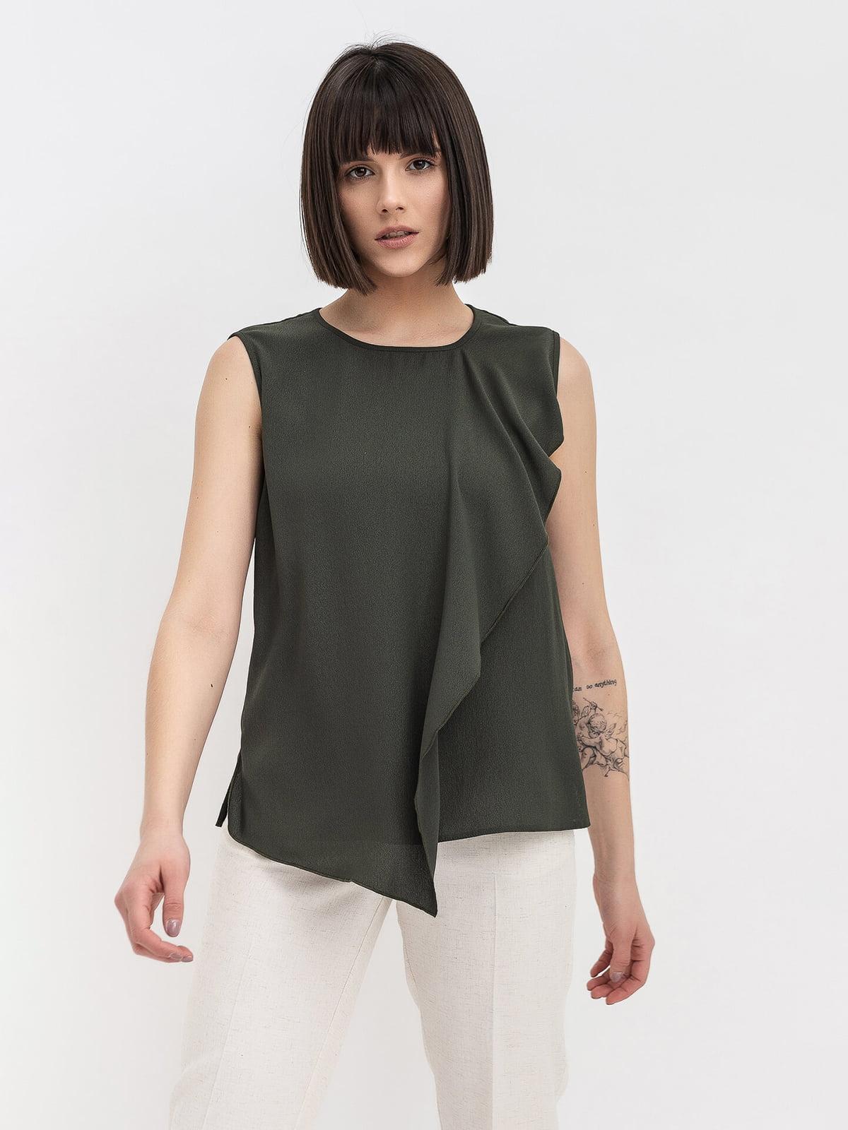 Блуза цвета хаки   5115742