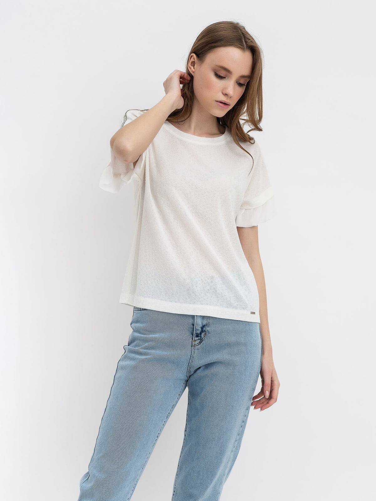 Блуза молочного цвета   5115745
