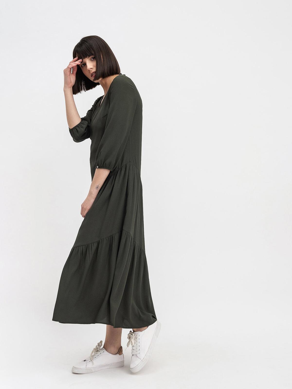 Платье цвета хаки   5115931