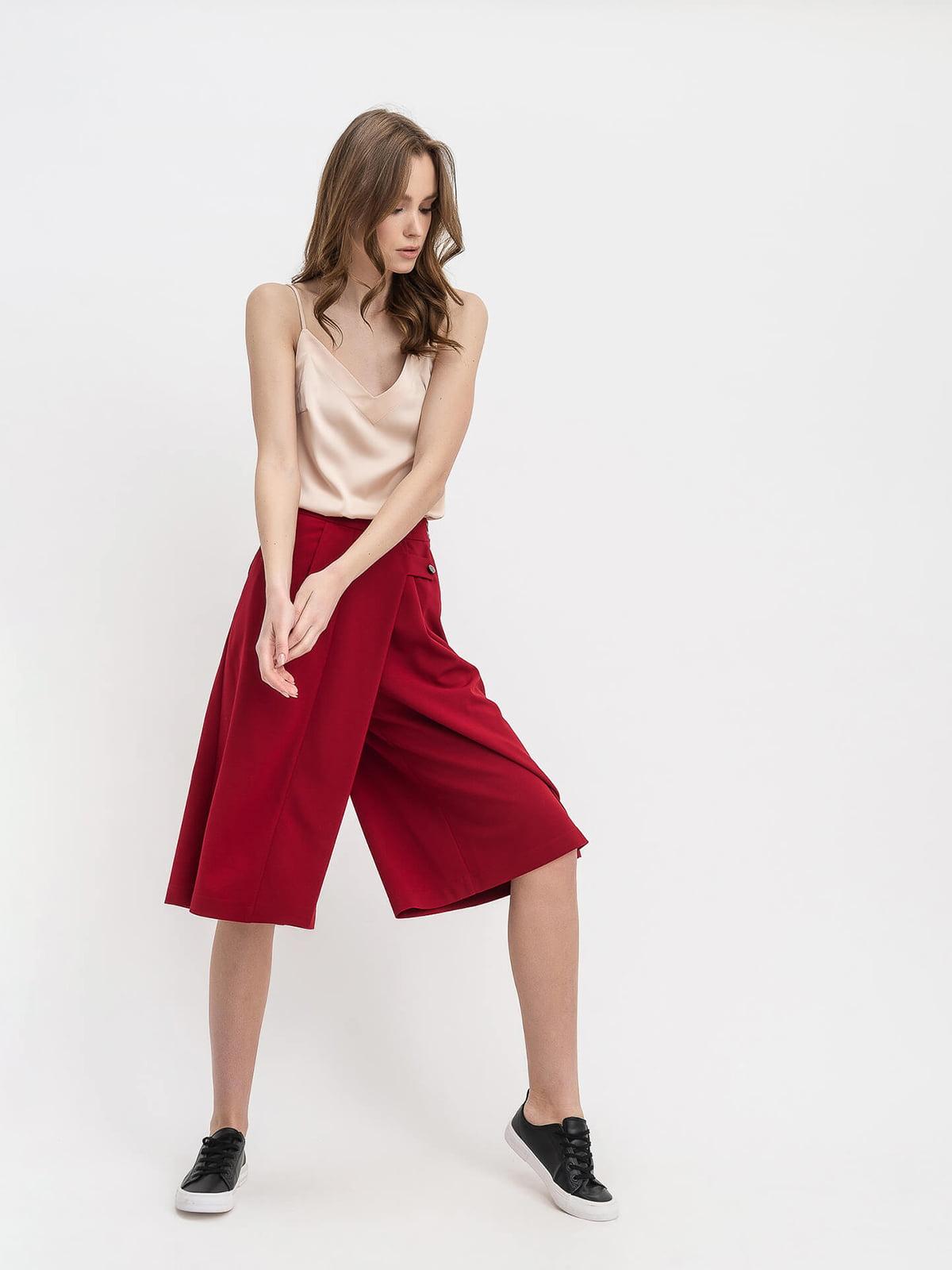 Юбка-шорты вишневого цвета | 5116051