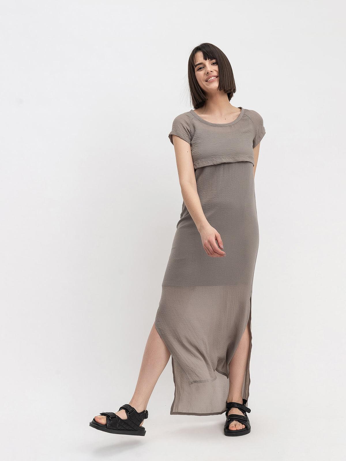 Платье цвета хаки   5116099