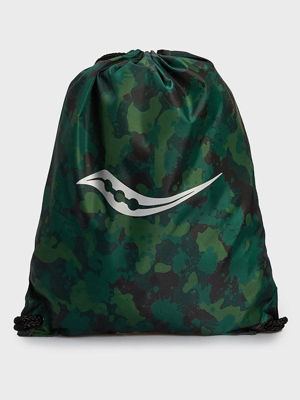 Рюкзак-мішок в камуфляжний принт і з логотипом | 5738794