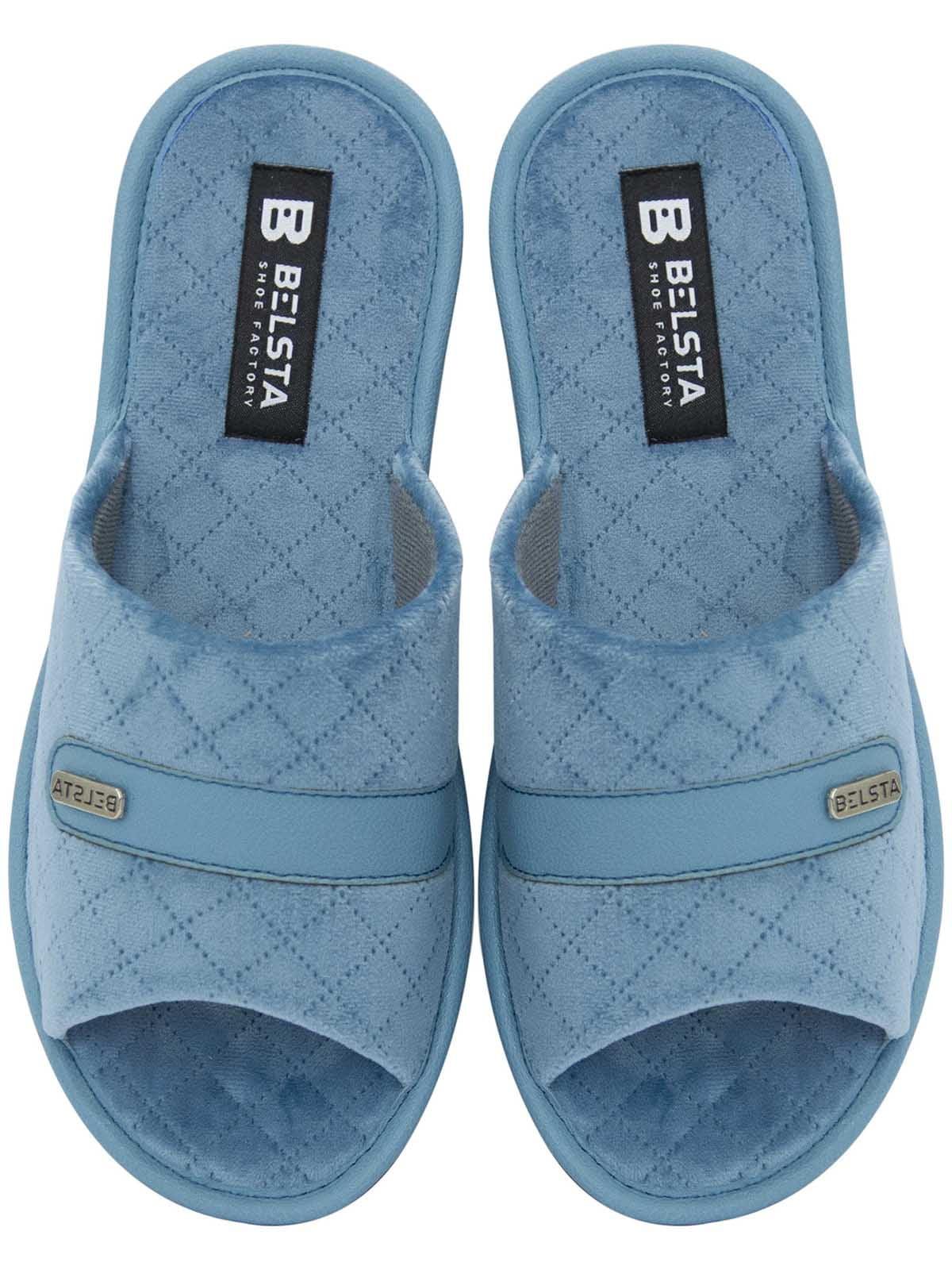 Тапочки голубые с узором   5760213
