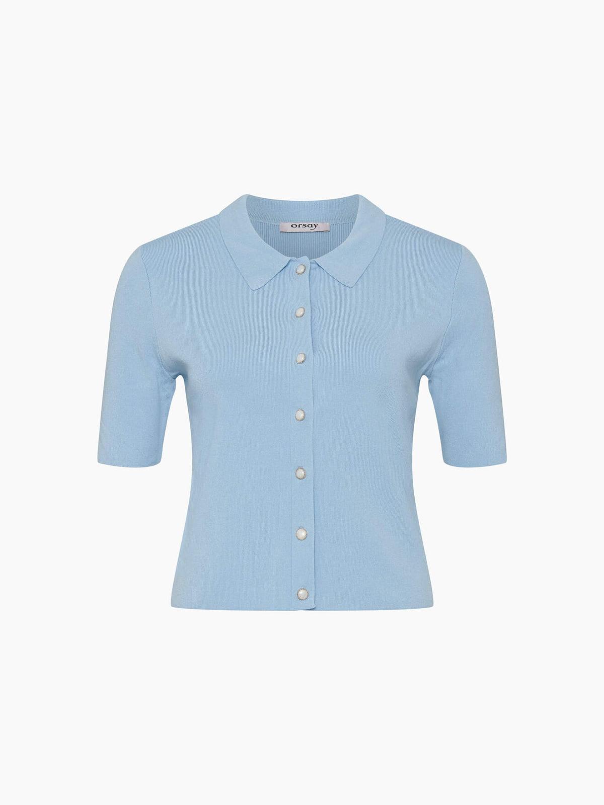 Блуза голубая   5762883
