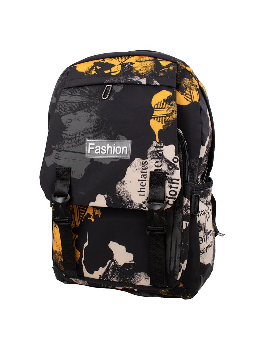 Рюкзак чорний в принт   5746471