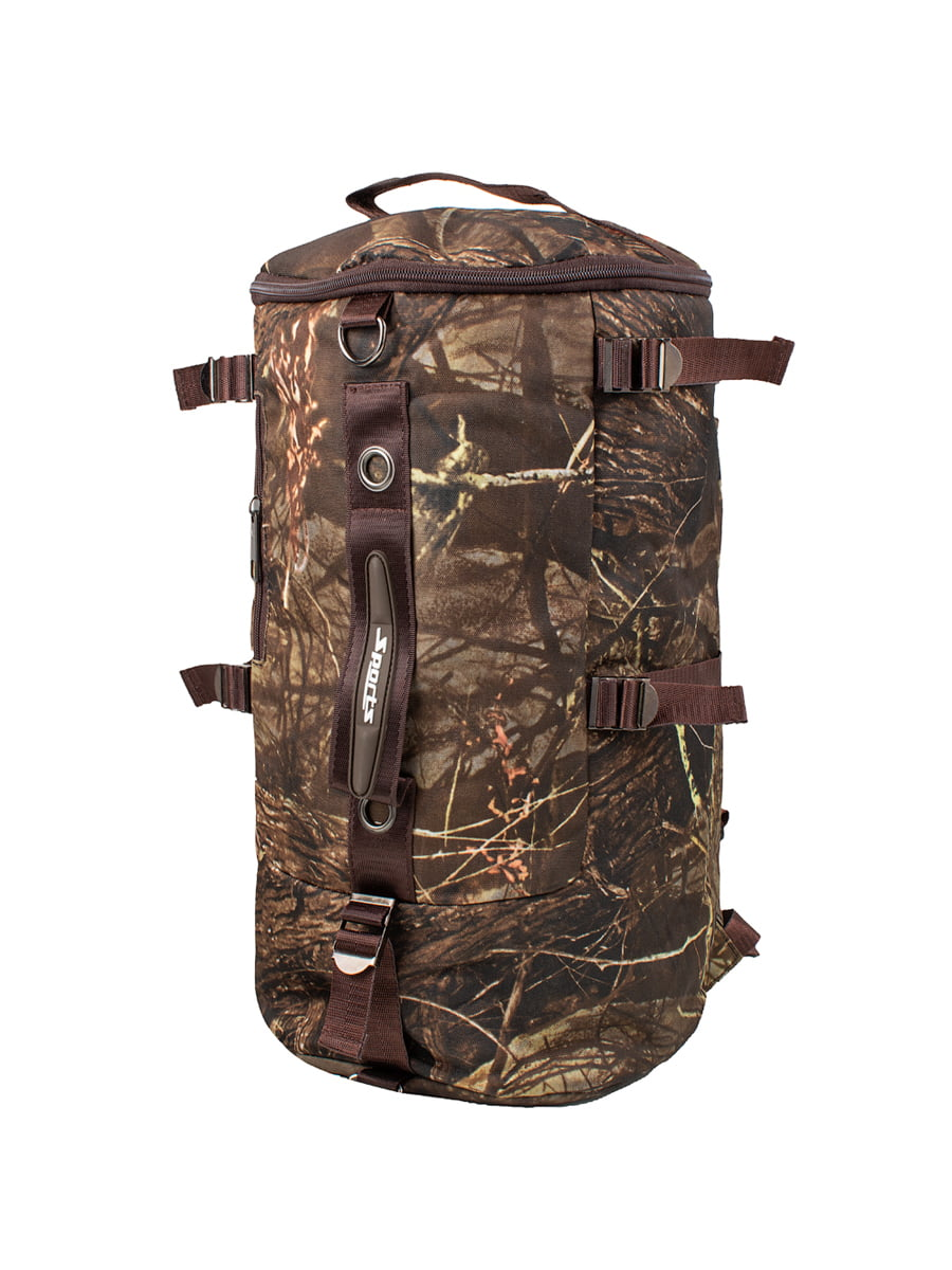 Рюкзак спортивний коричневий в принт | 5746762
