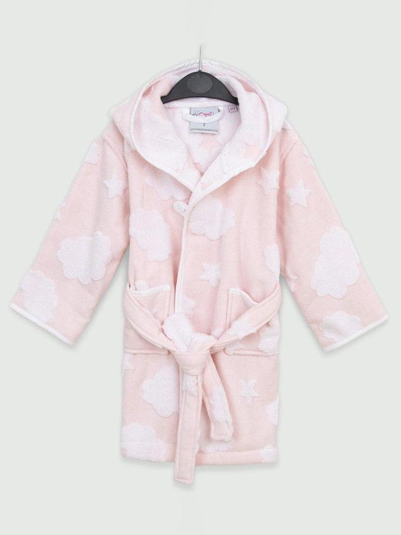 Халат розовый в принт | 5488949