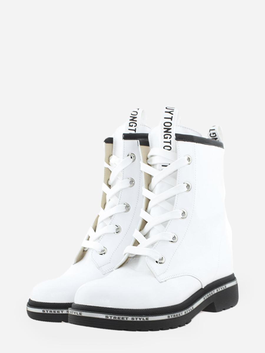 Черевики білі з логотипом | 5766315