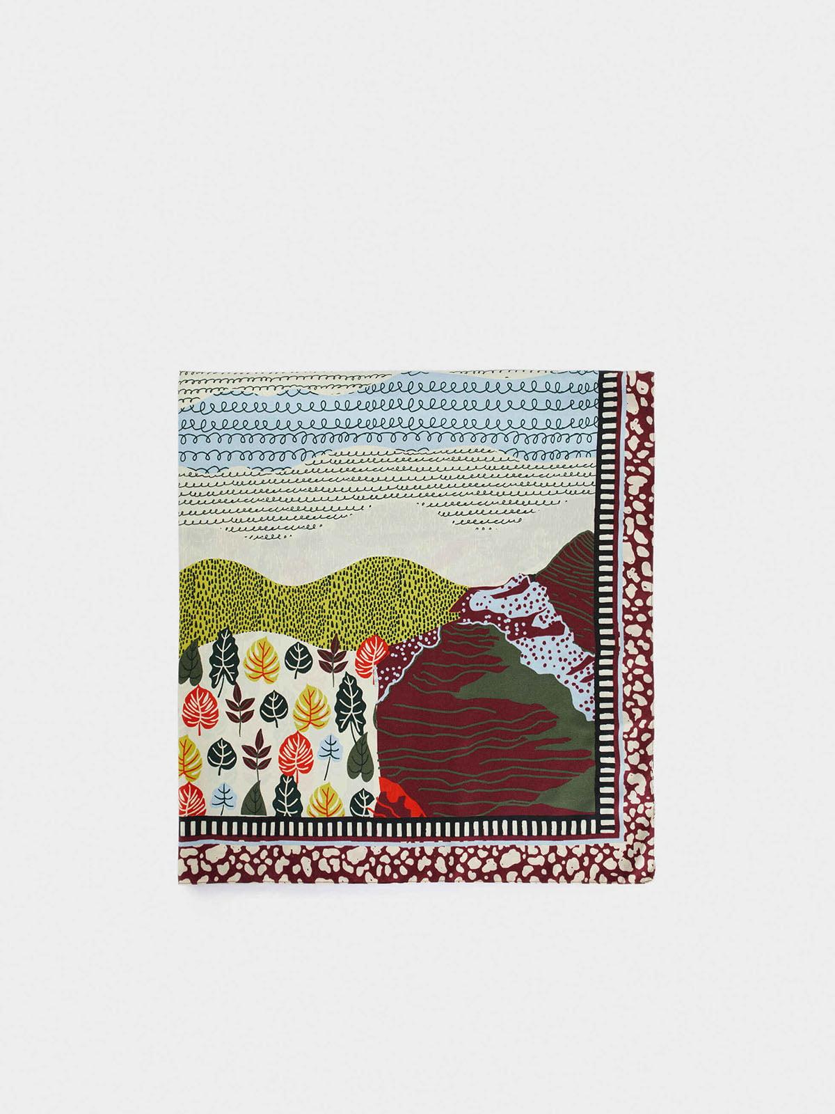 Платок комбинированной расцветки | 5769722