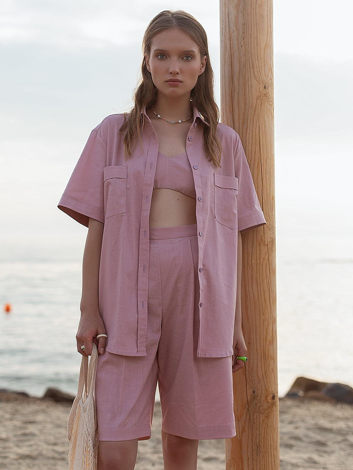 Рубашка розовая | 5821525