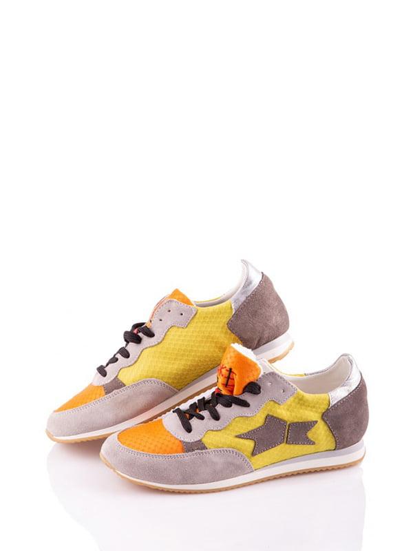 Кросівки комбінованого кольору з декором-малюнком | 4913524