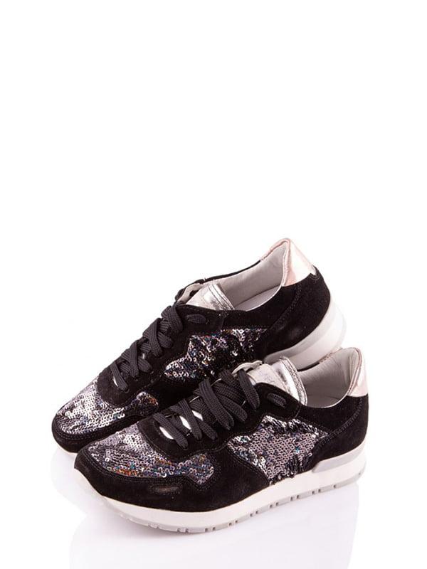 Кроссовки черные с декором   4978110