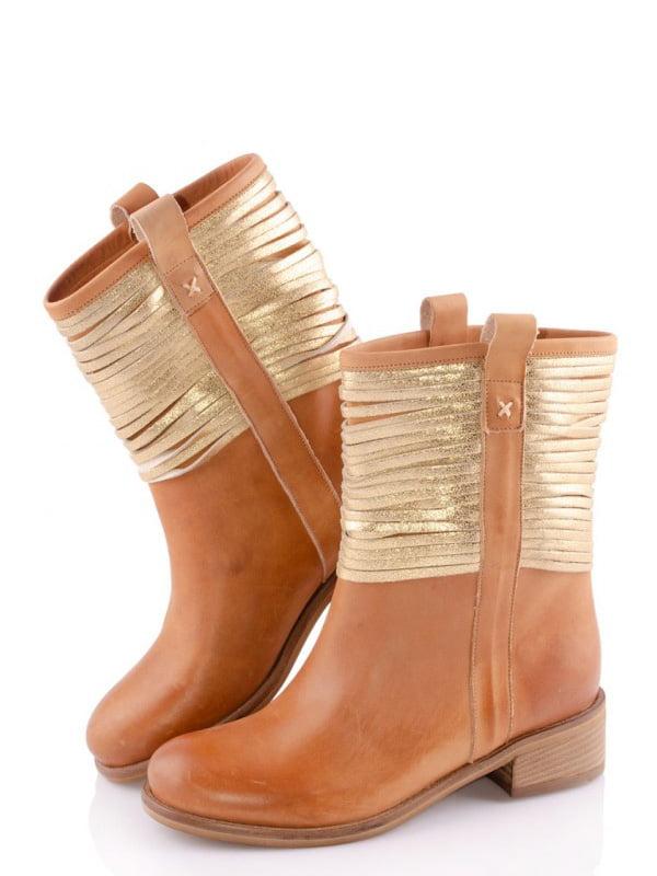 Черевики коричневі з декором   5691663