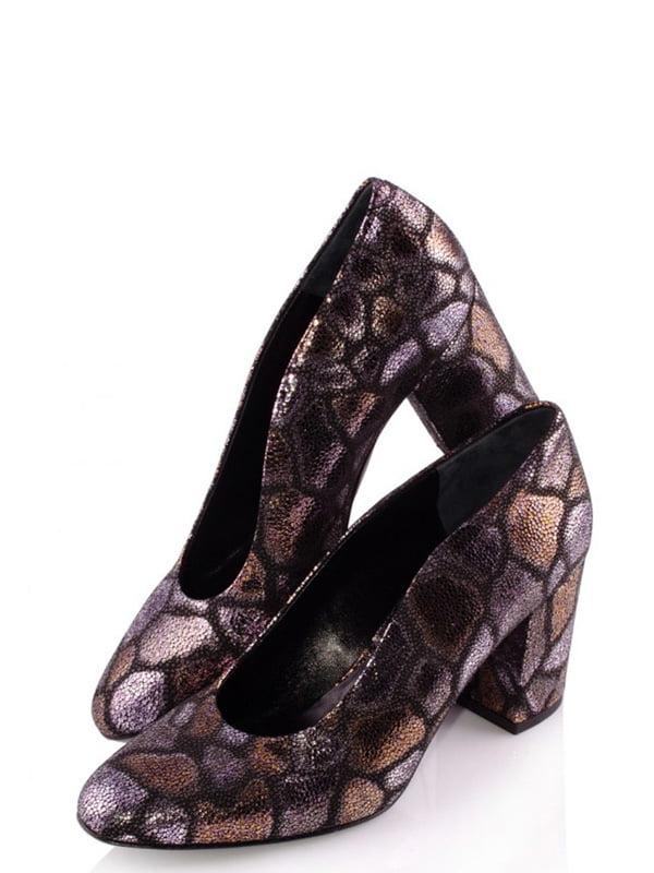 Туфлі комбінованого кольору з візерунком | 4913597