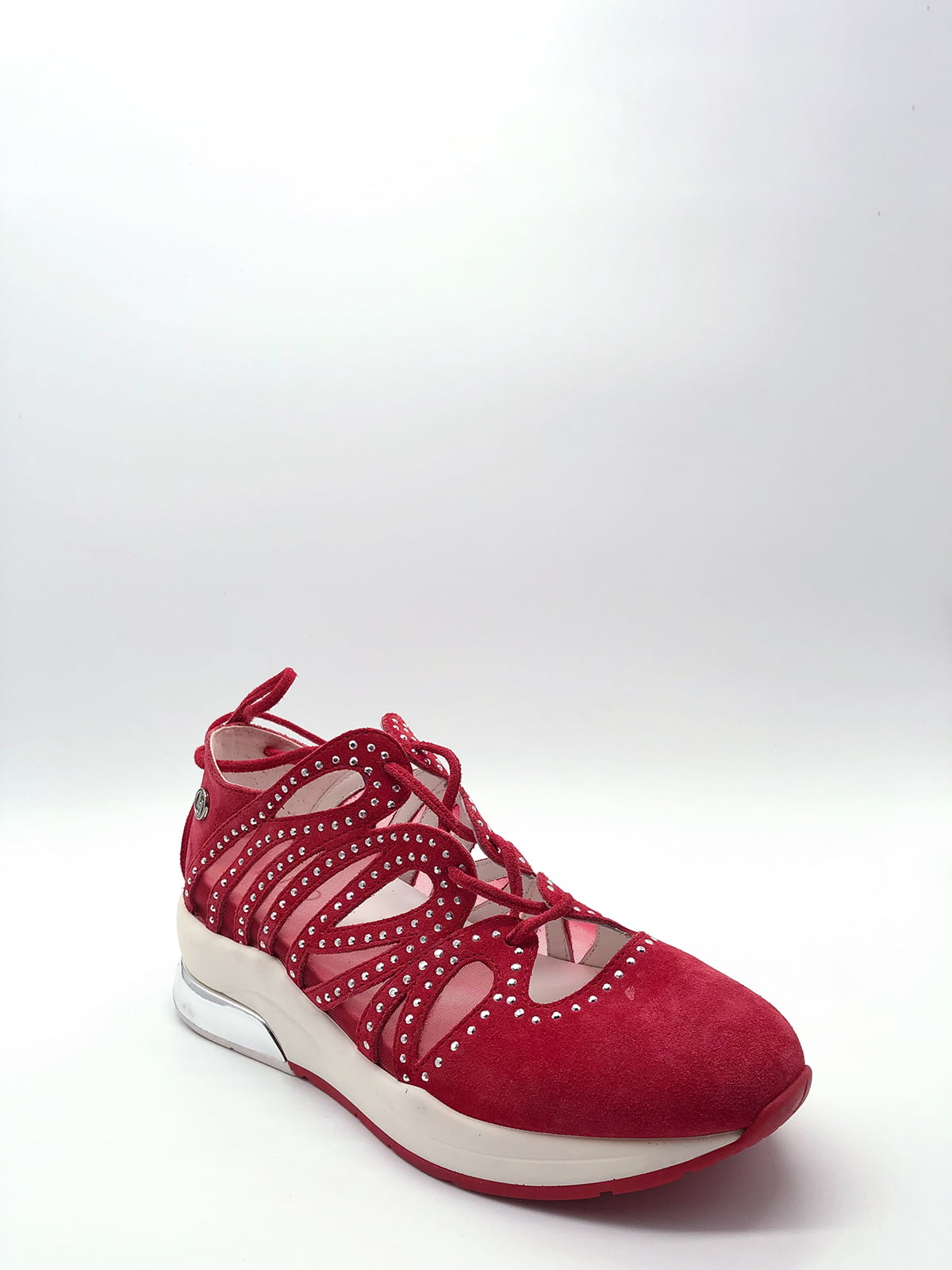 Кросівки червоні з декором   5828780
