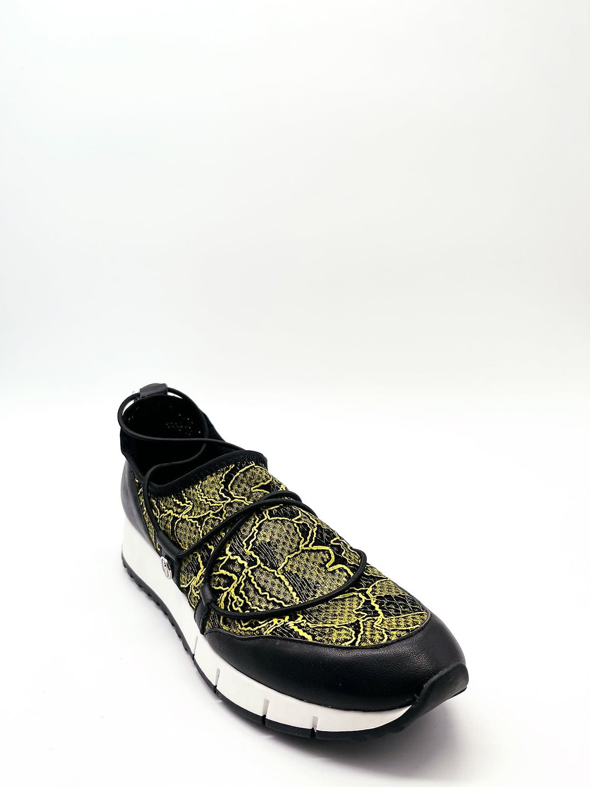 Кросівки чорні з візерунком | 5828783