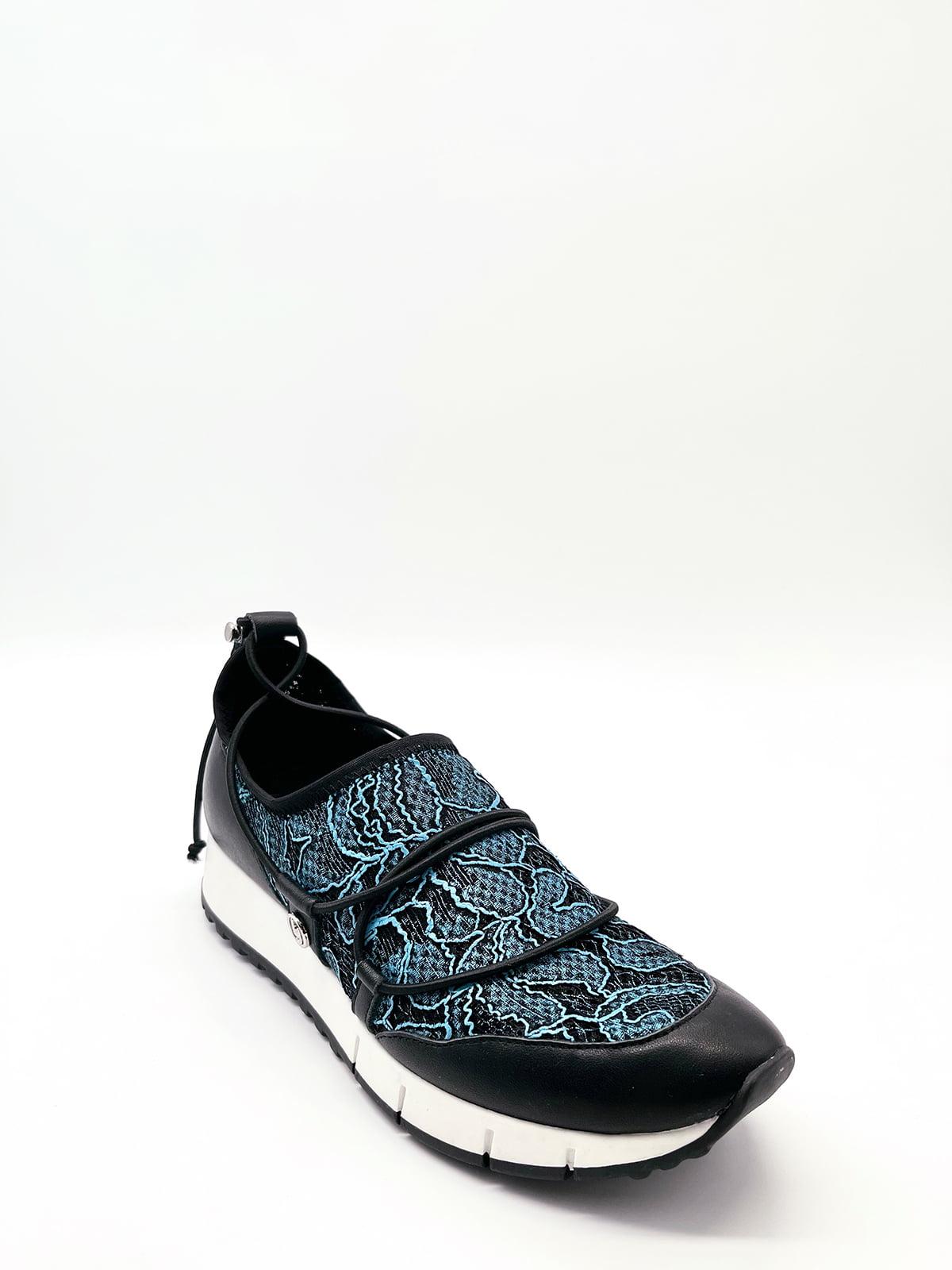 Кросівки чорні з візерунком | 5828784