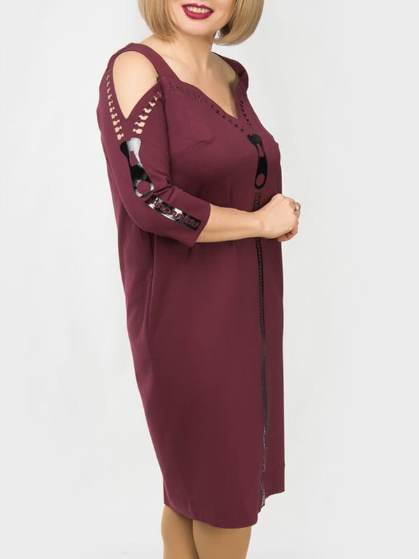 Сукня кольору марсала | 4888882