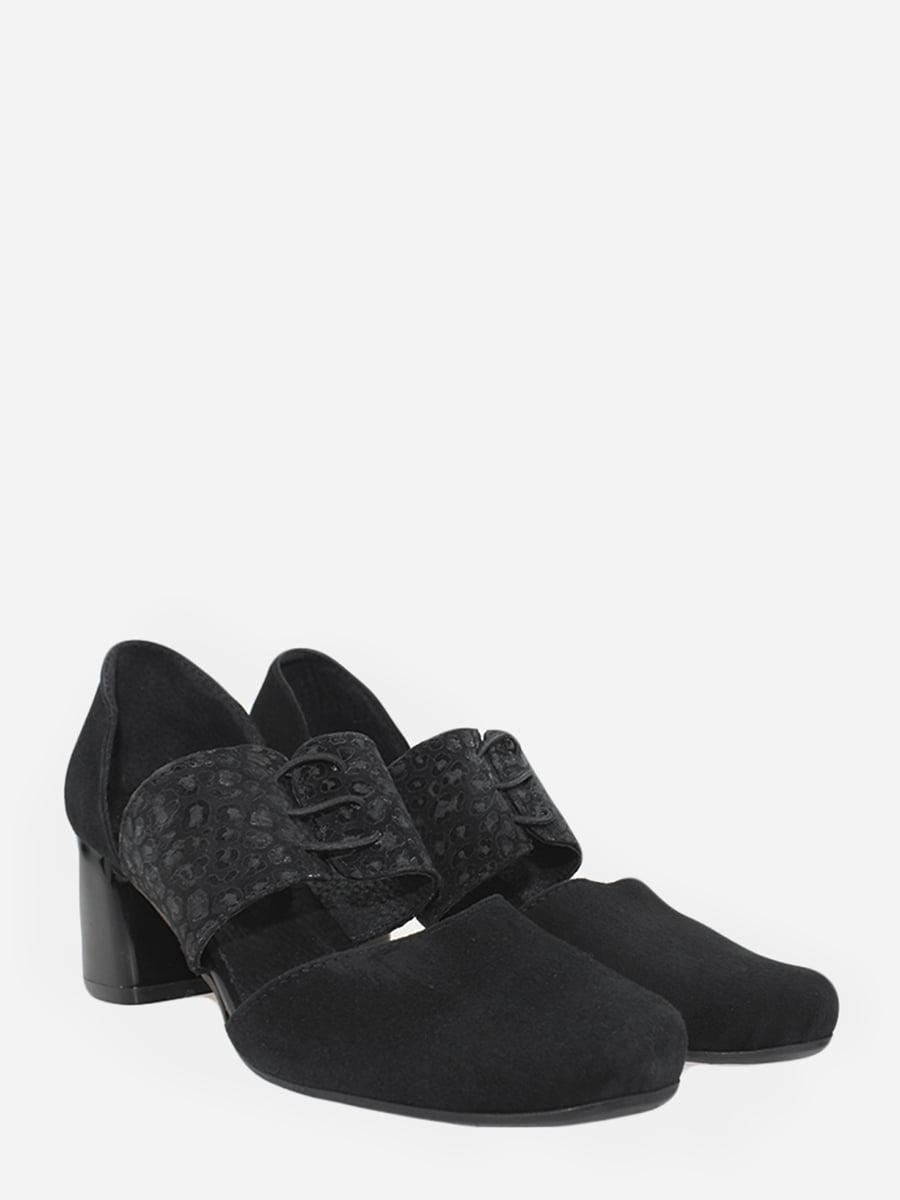 Туфлі чорні з візерунком   5831526