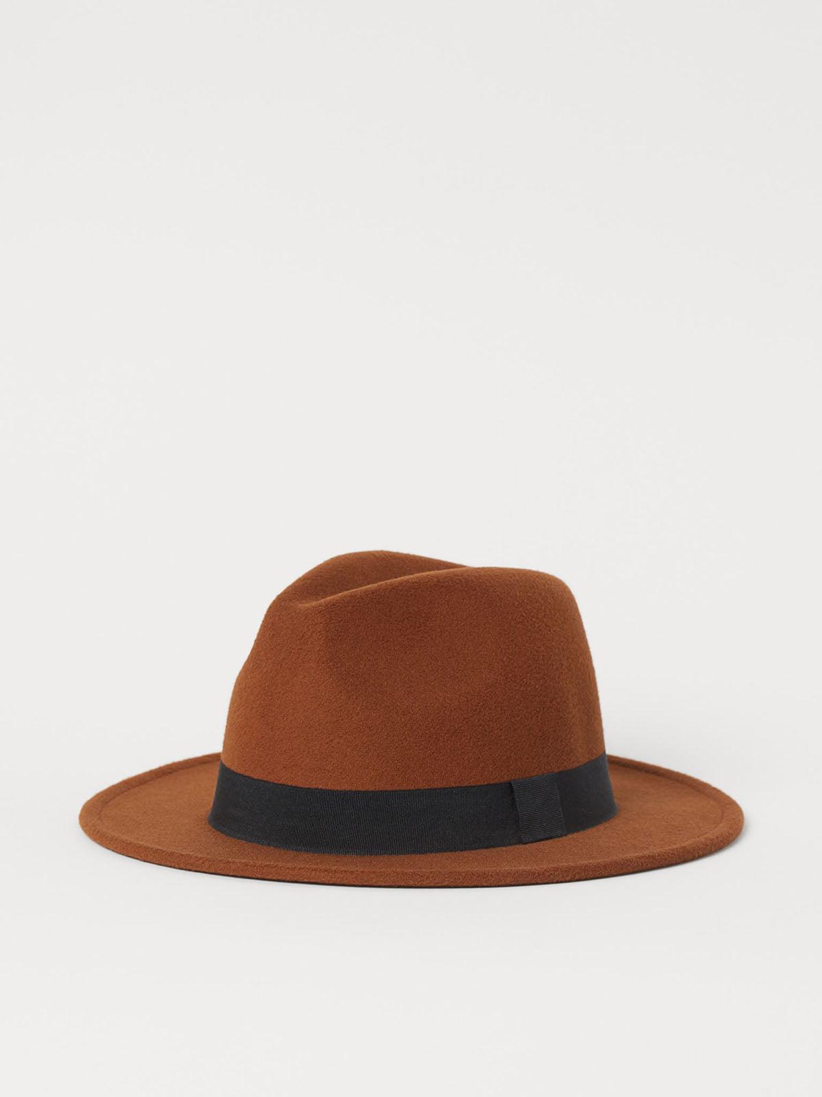 Шляпа коричневая | 5847833
