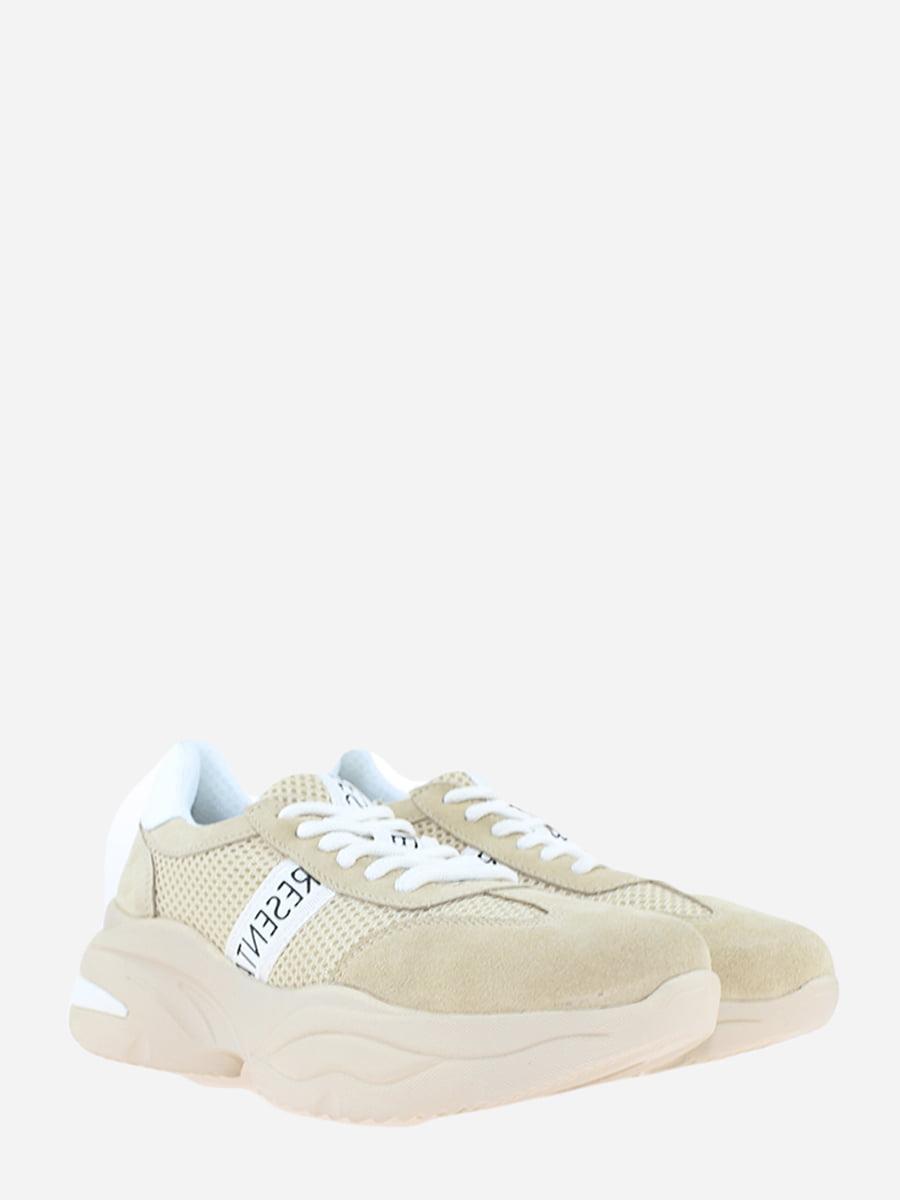 Кросівки бежеві з логотипом | 5802519