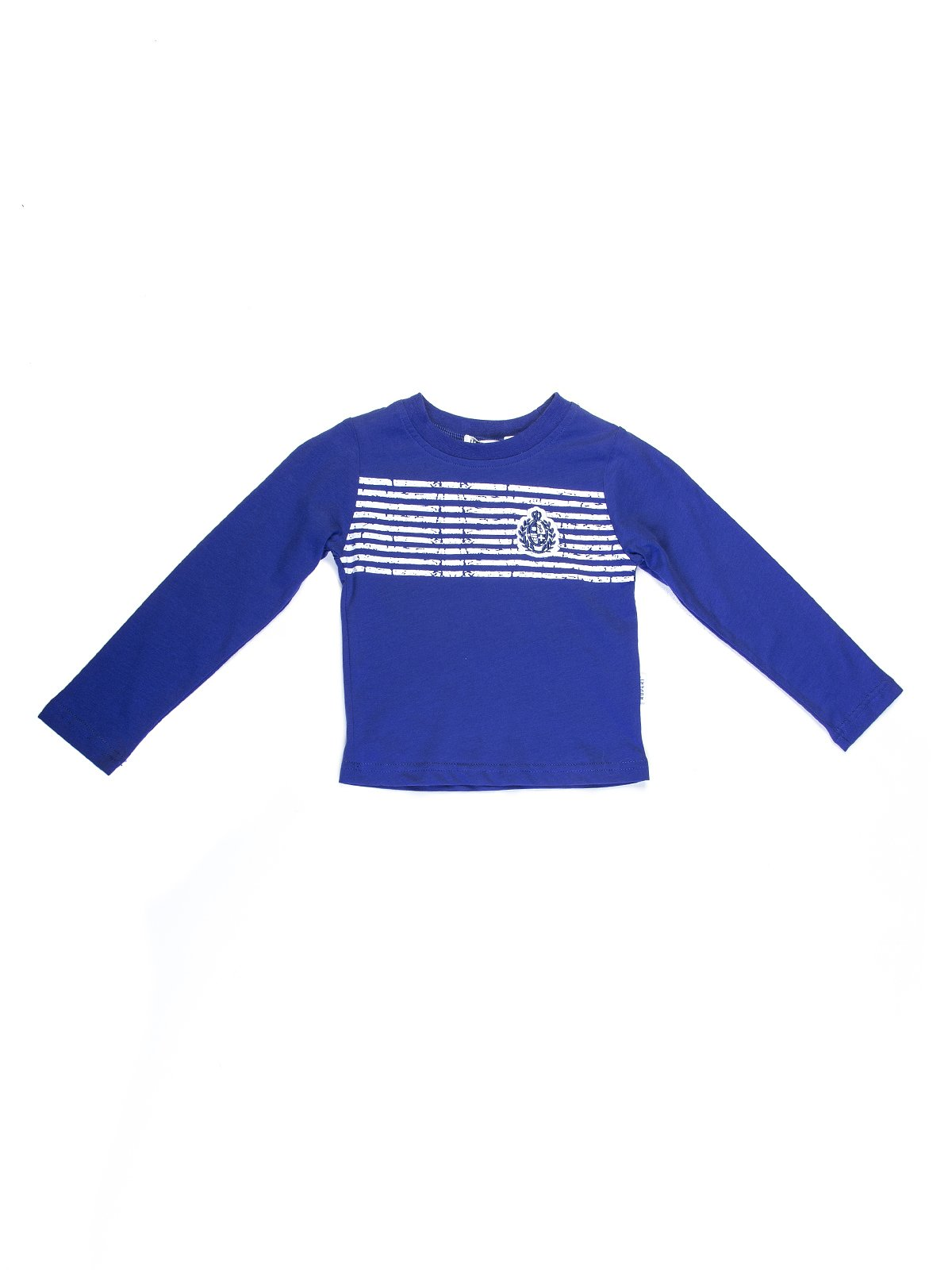 Джемпер синий с контрастными полосками | 727694