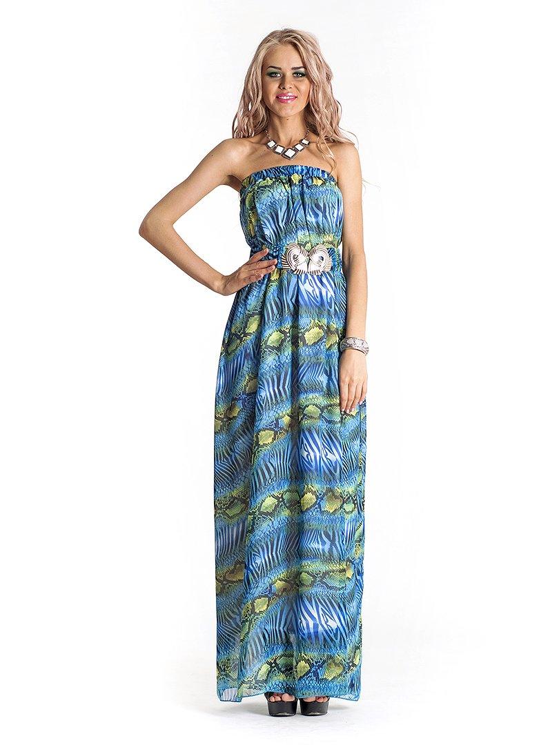 Сукня-бюстьє анімалістичного забарвлення | 535777