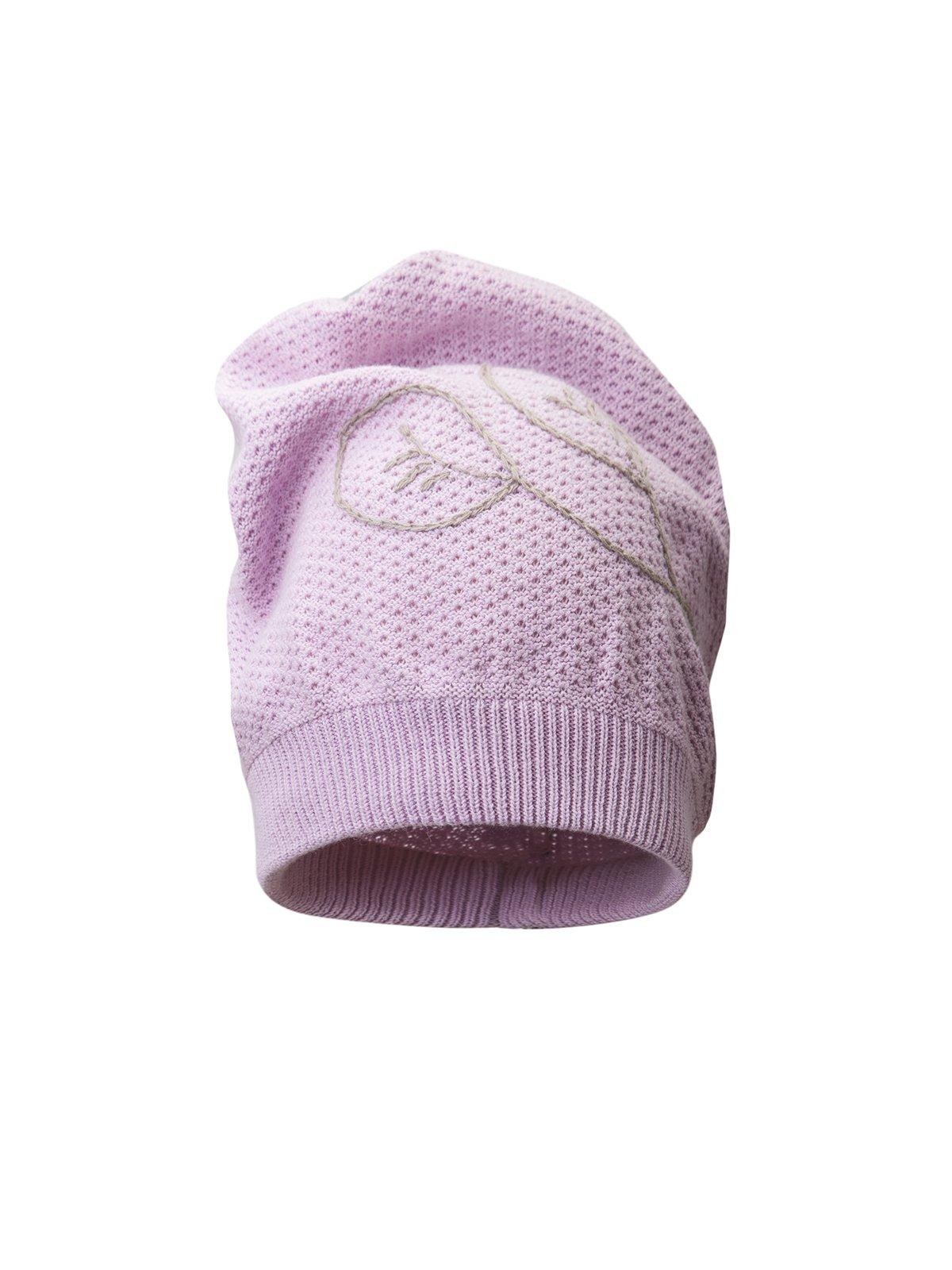 Шапка розовая с вышивкой | 311817