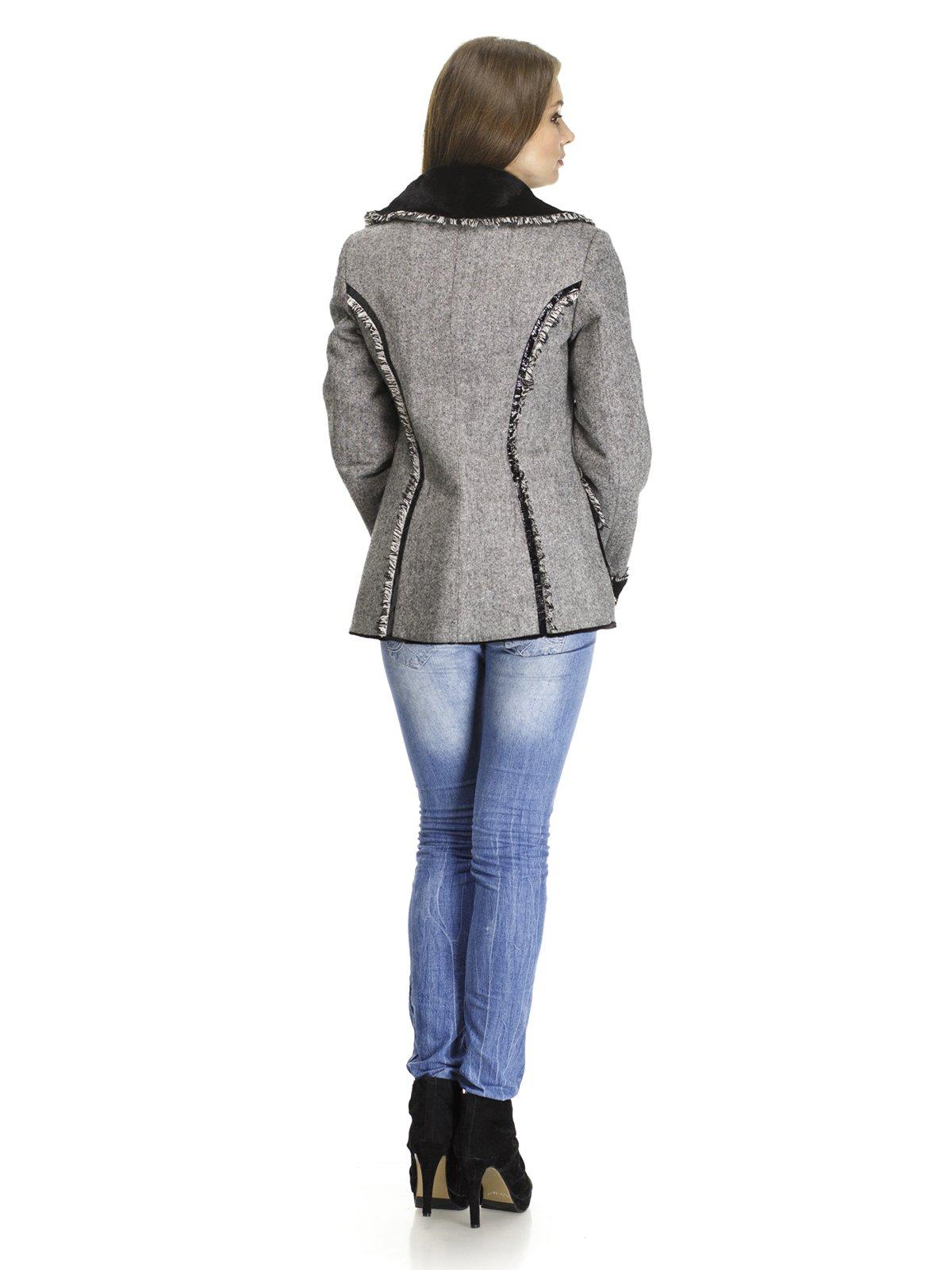 Пальто двостороннє з бахромою | 468360 | фото 4