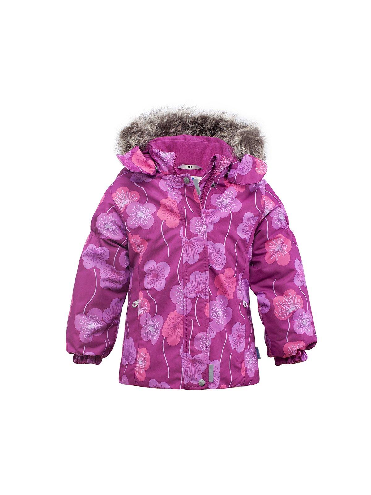 Куртка кольору фуксії в квітковий принт   165416
