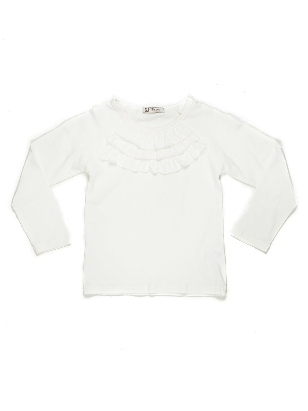 Джемпер белый с рюшами   449615