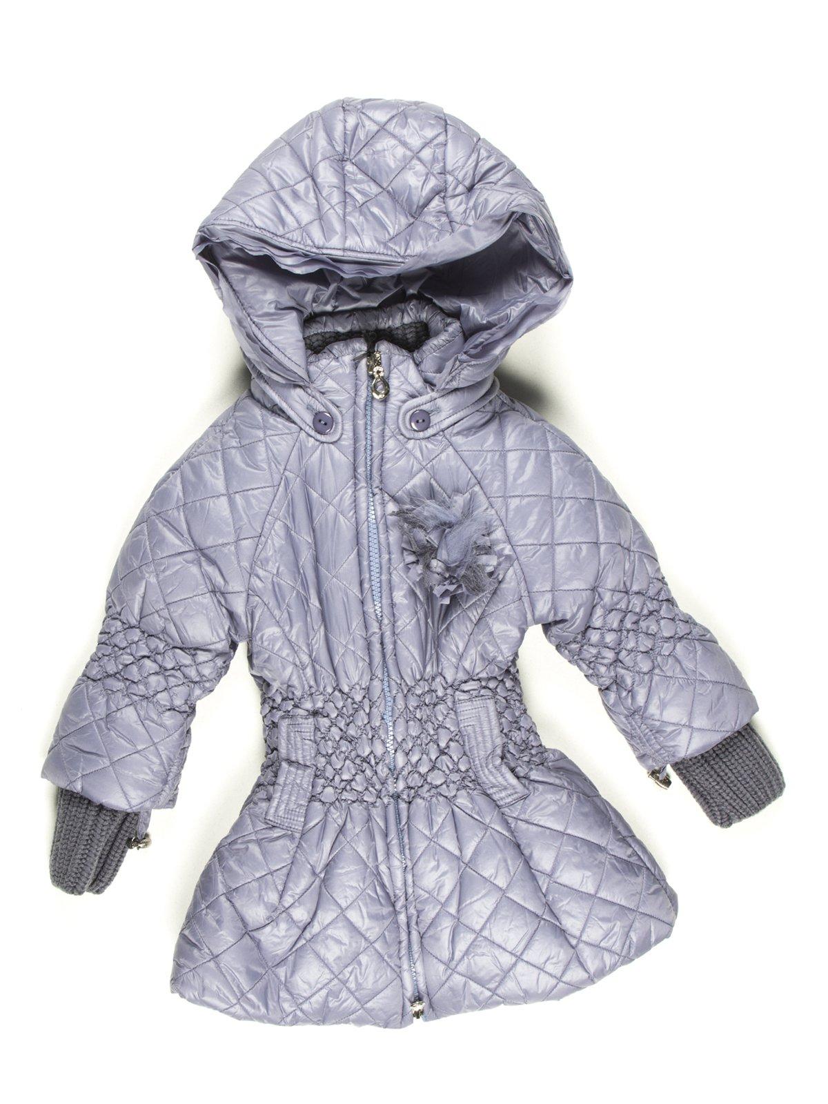 Пальто сіре з капюшоном   629062