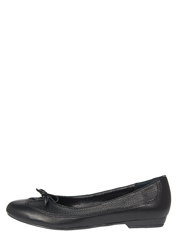 Туфли черные с перфорацией и бантиком | 319296