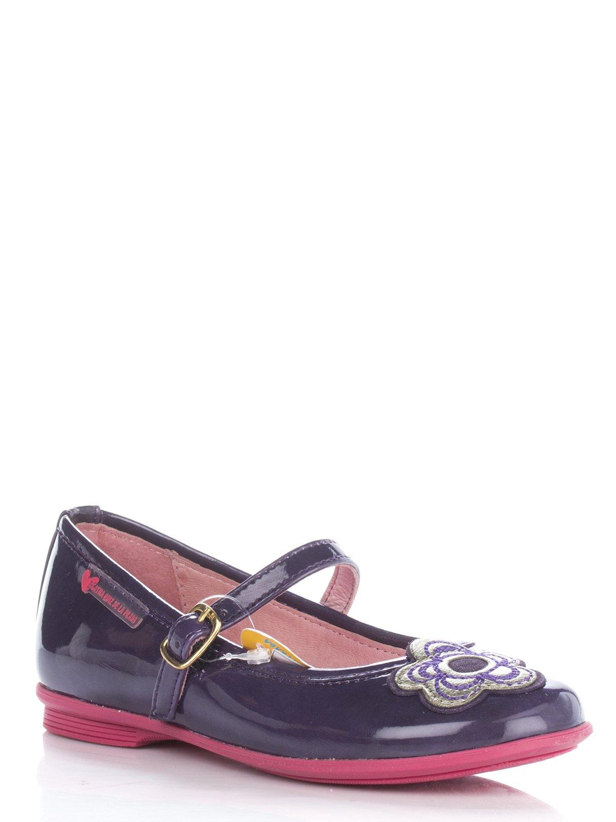 Туфлі фіолетові з квіточкою   677931