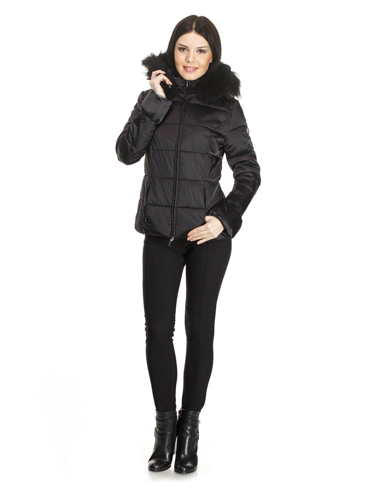 Куртка черная с капюшоном | 748066