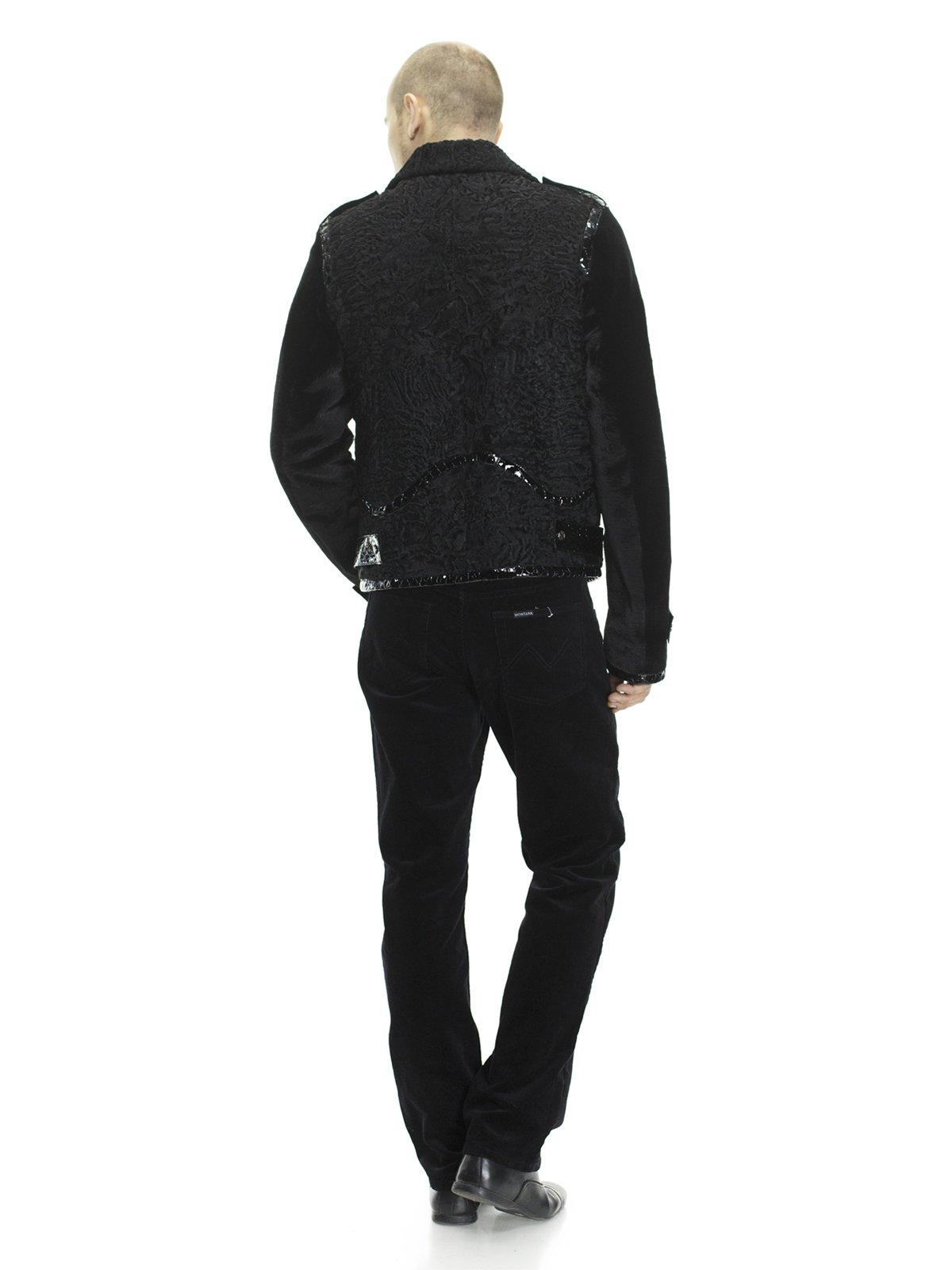 Куртка чорна комбінована з хутром кенгуру і каракуля | 692951 | фото 2
