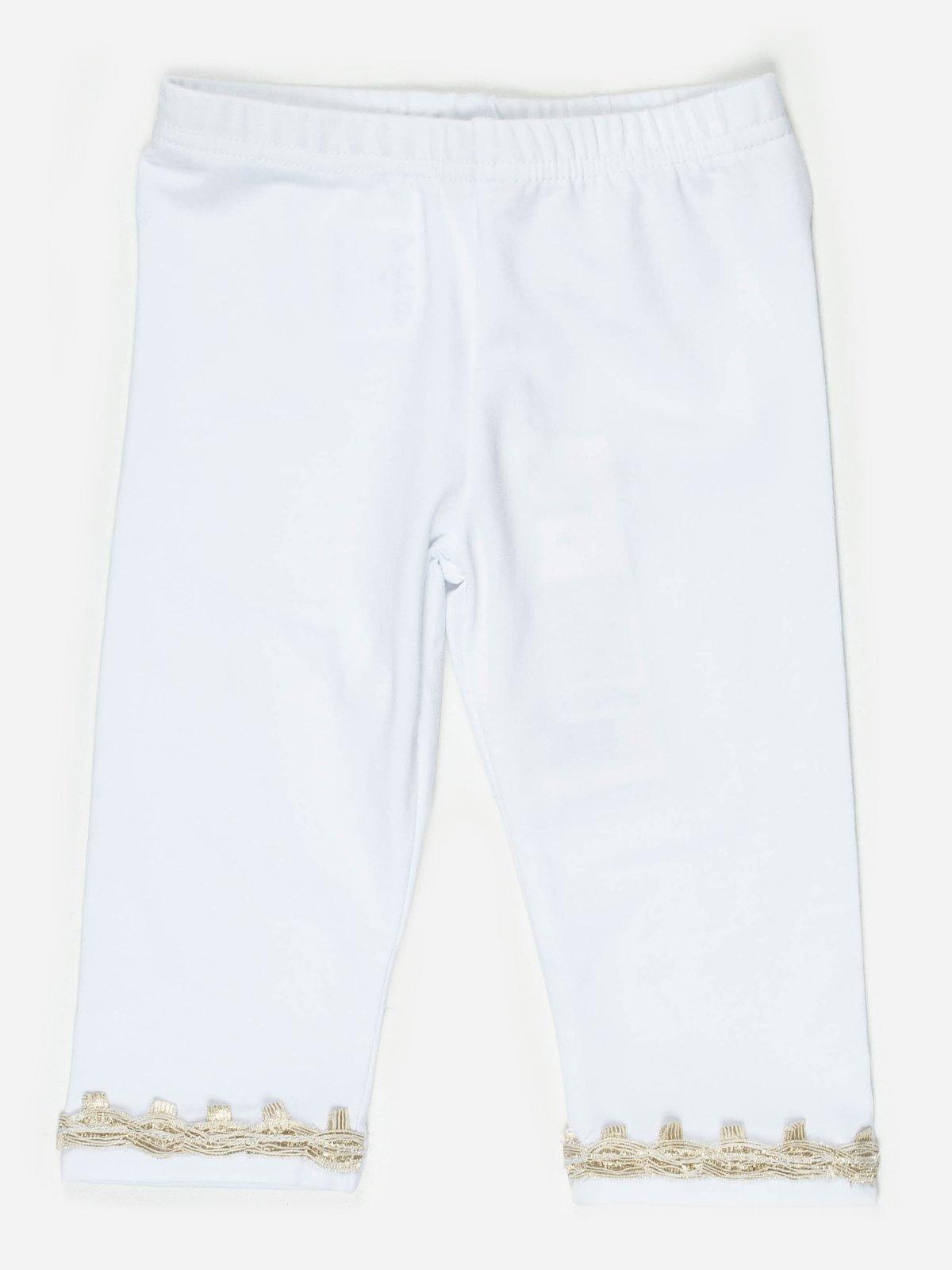 Легінси білі із золотистим оздобленням   467813