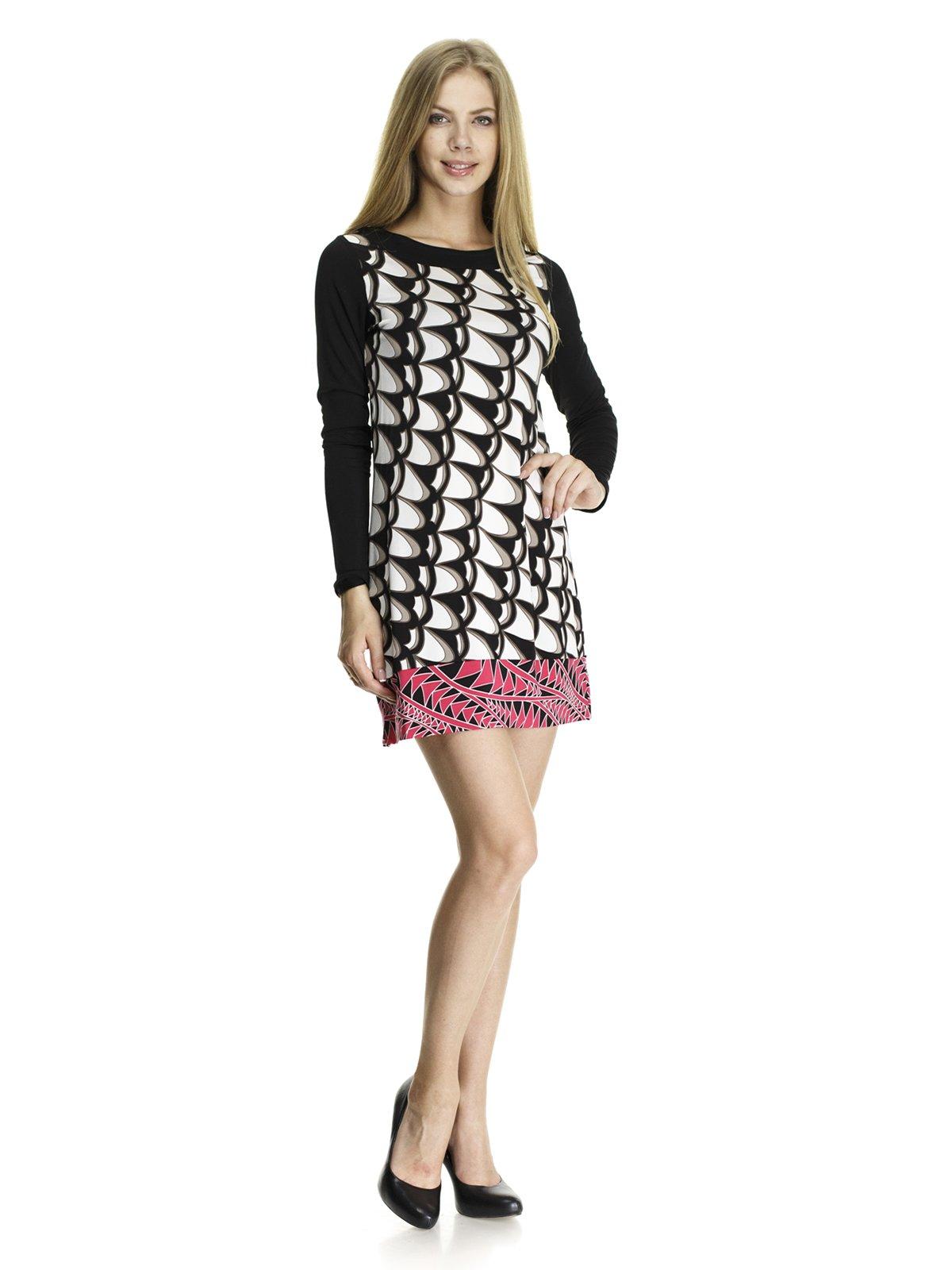 Платье абстрактной расцветки   405811
