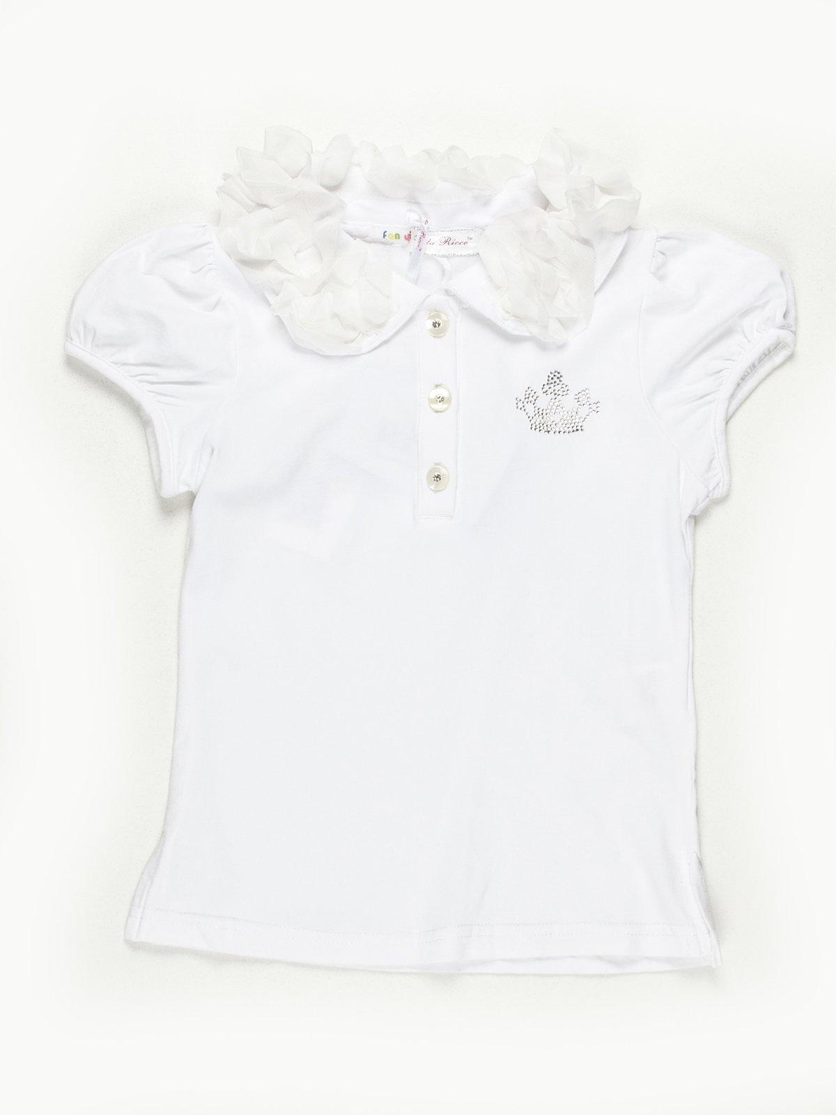 Блуза белая с декором | 558333