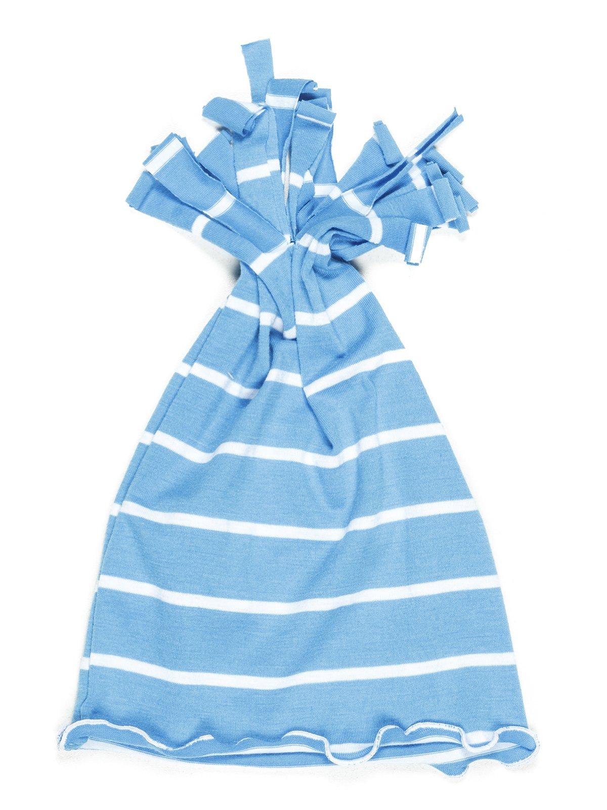 Шапка голубая в полоску | 576678